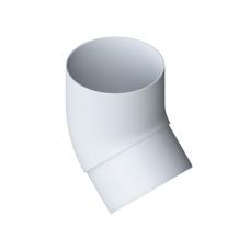 Колено трубы Альта 95/45' белое