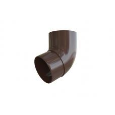 Колено трубы Альта 95/67' коричневое