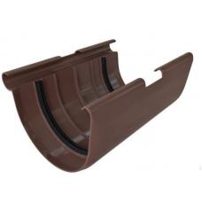Муфта желоба Альта 125 коричневая
