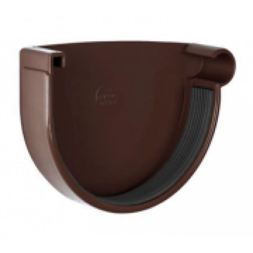 Заглушка желоба правая NewWay 120 коричневая